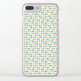 Pastel Sweetheart Valentines Clear iPhone Case