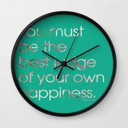 Happiness 2 Wall Clock