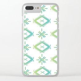 UrbanNesian Green & Turquoise Malu Clear iPhone Case