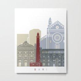 Bari skyline poster Metal Print