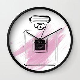 Purple perfume #3 Wall Clock
