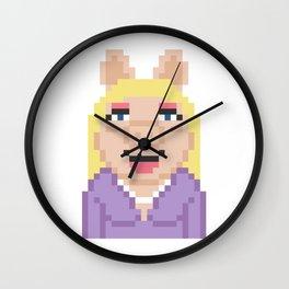 Miss Piggy The Muppets Pixel Character Wall Clock