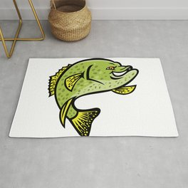 Crappie Fish Mascot Rug