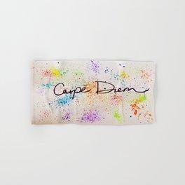 Carpe Diem Paint Splatter Hand & Bath Towel
