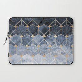 Blue Hexagons And Diamonds Laptop Sleeve