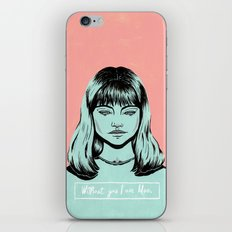 Without you I am Blue. iPhone & iPod Skin