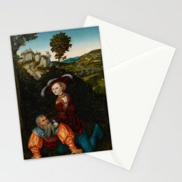 """Lucas Cranach the Elder """"Phyllis and Aristotle"""" Stationery Cards"""