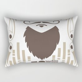 touch it and you will die bearded man Rectangular Pillow