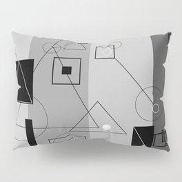 Gray Geometry 3 Pillow Sham
