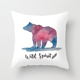 Wild Spirit Bear Throw Pillow