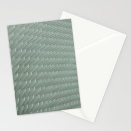 Abstract White Minimal Pattern Stationery Cards