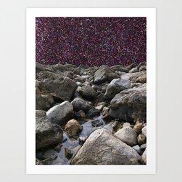 Glitter Tide Art Print