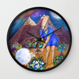 Ancient Memories - 6 of Cups Wall Clock