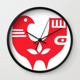 Scandinavian bird Wall Clock