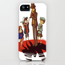 Layton in Gravity Falls iPhone Case