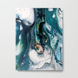 Abstract Melt VIII Metal Print