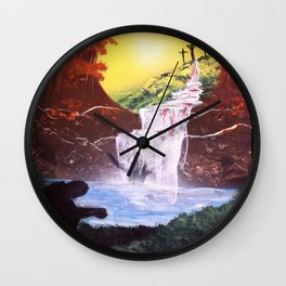 Washed Clean Wall Clock