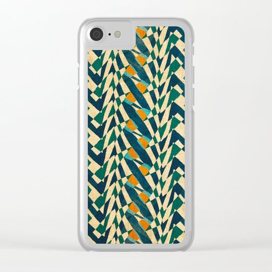 Braiding Colors Clear iPhone Case