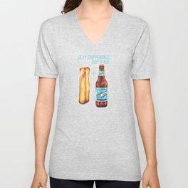 Food Pun - Sexy Chip 'N' Ale Unisex V-Neck