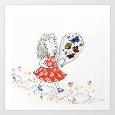 Butterflies, to Go Art Print