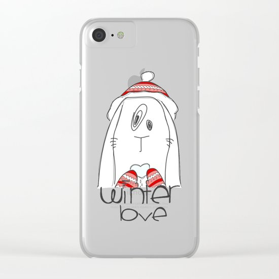 Winter Love Clear iPhone Case