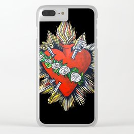Sacred Heart Sagrado Corazon Clear iPhone Case
