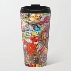 Vintage Yarn & Thread Metal Travel Mug