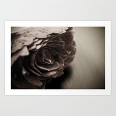Wooden Flower - Vintage Art Print