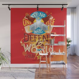 Defend the world Wall Mural