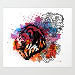 Lion Spirit Art Print