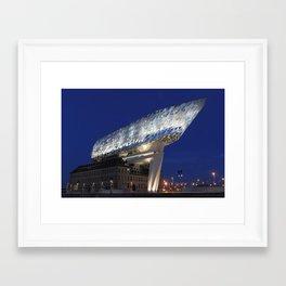 The Antwerp Port House   Zaha HADID architect Framed Art Print