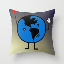 THE EARTH. Throw Pillow