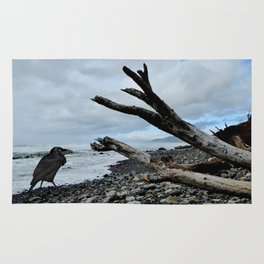 Salty Raven stormy beach Rug