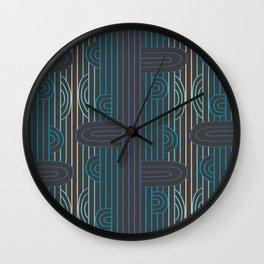art deco stripe Wall Clock