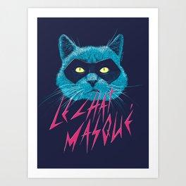 Le Chat Masqué Art Print