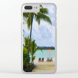 A Dreamy Day at a Tahitian Beach, Bora Bora Clear iPhone Case