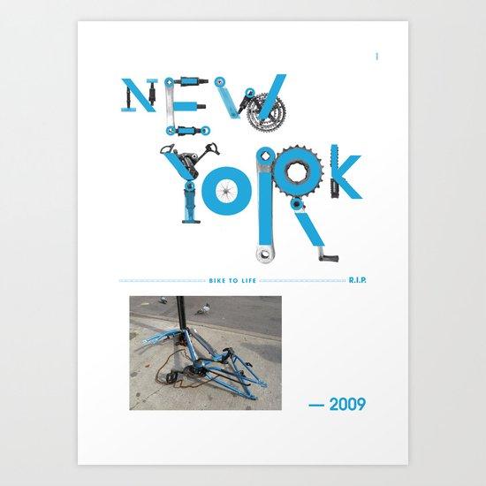 Bike to Life - New York Art Print