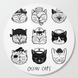 Ocean Cats Cutting Board