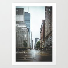Empty Streets - New York City Art Print