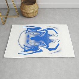 mask1 blue Rug