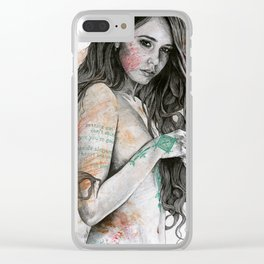 You Lied Clear iPhone Case