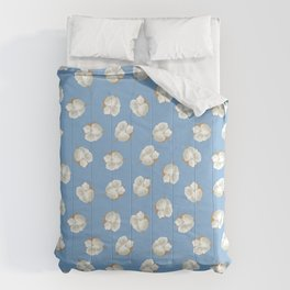 Cotton Blossom Toss in Carolina Blue Comforters