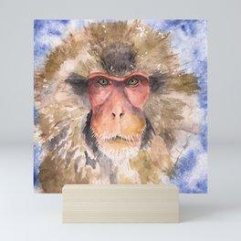 Snow Monkey Mini Art Print
