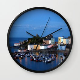 TENBY HARBOUR. PEMBROKESHIRE.WALES. Wall Clock