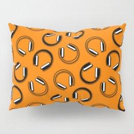 Headphones-Orange Pillow Sham