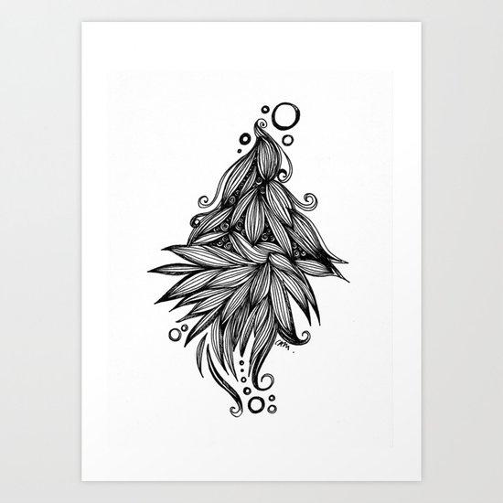 Ornate tangle wave form Art Print
