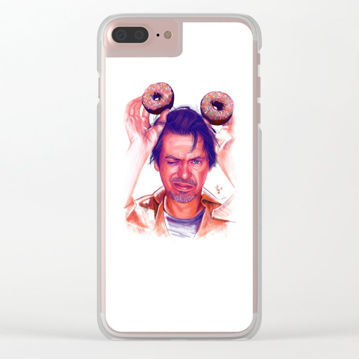 Steve Buscemi and donuts Clear iPhone Case