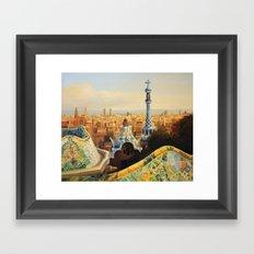 Barcelona Park Guell Framed Art Print