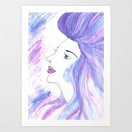 Cool Breeze Nymph Art Print