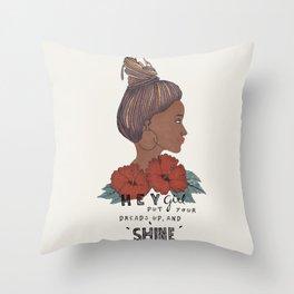 Dreads up Throw Pillow